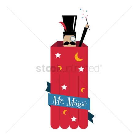 free magic hat stock vectors stockunlimited rh stockunlimited com Magic Book Clip Art magic hat and rabbit clipart