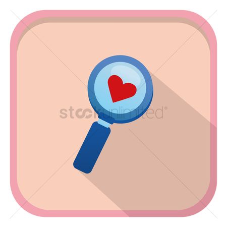 Heart : Magnifying glass with heart