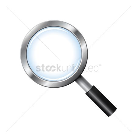 Vectors : Magnifying glass