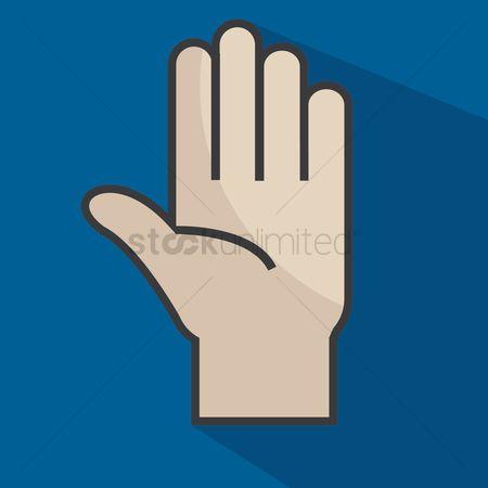 Free Stop Hand Gesture Stock Vectors Stockunlimited