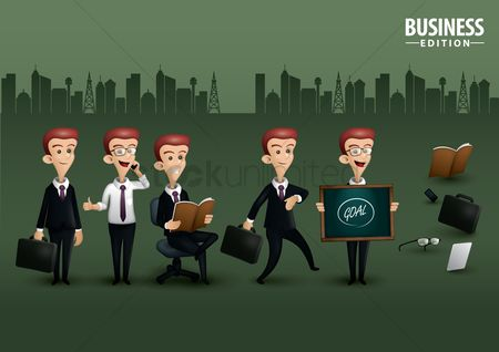 Blackboard : Man on business edition poster design