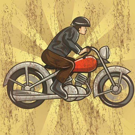 Motorcycles : Man riding motorcycle