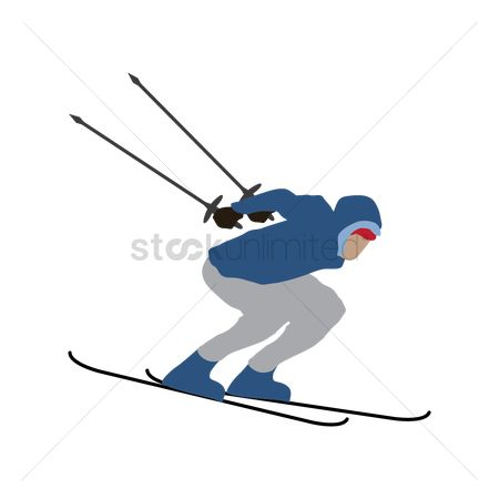 Athletes : Man skiing