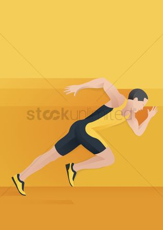 Athletes : Man sprinting