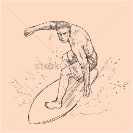 Clears : Man surfing on surfboard