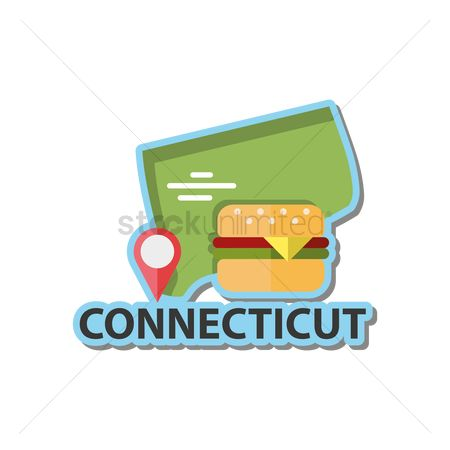 Connecticut : Map of connecticut state