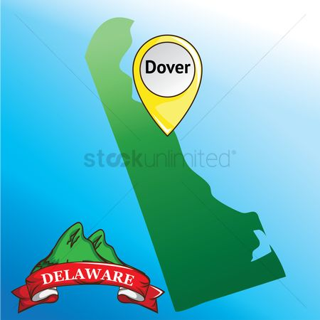 Delaware : Map of delaware state with mountain