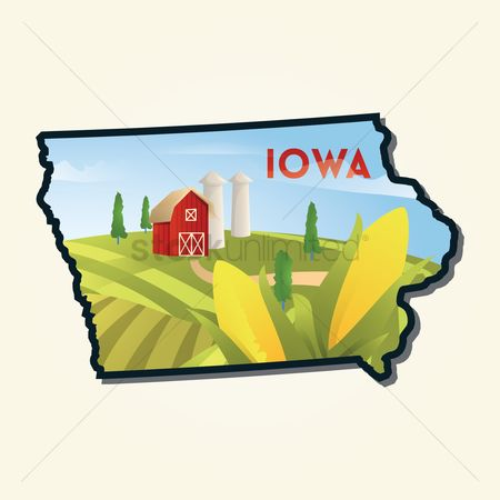 Utah map : Map of iowa