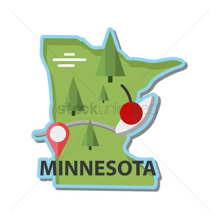 Sculpture : Map of minnesota state