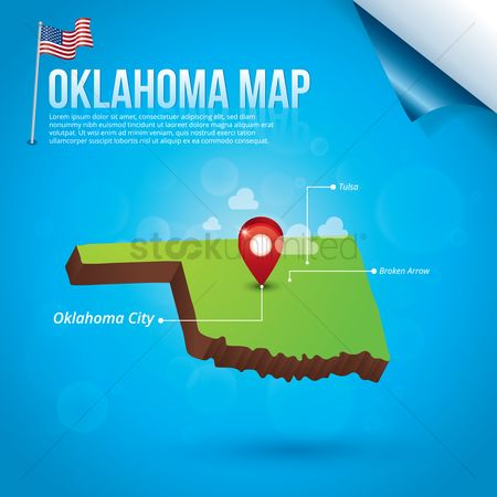Capital city : Map of oklahoma state