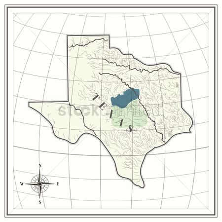 Texas : Map of texas state