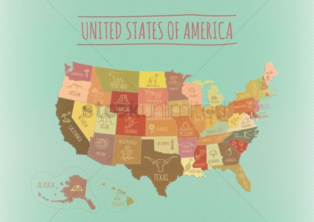 French fries : Map of usa