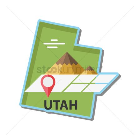 Great salt lake : Map of utah state
