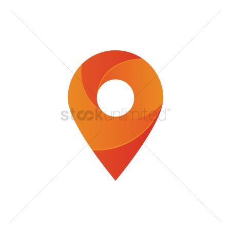 Map pin : Map pointer logo element