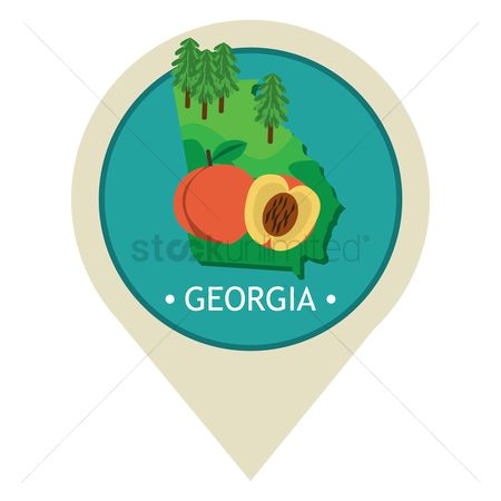 Navigators : Map pointer with georgia state