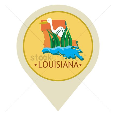 Navigator : Map pointer with louisiana state
