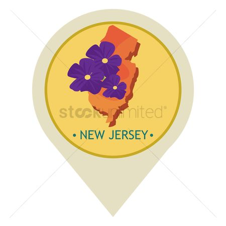Navigators : Map pointer with new jersey state