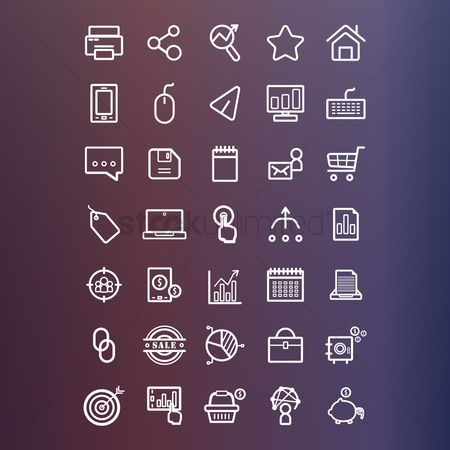 Entrepreneur : Marketing icons collection