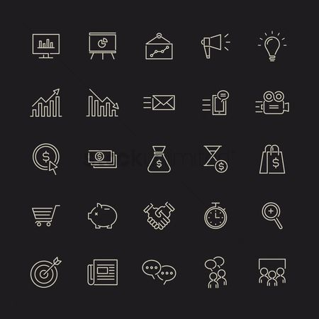 Trolley : Marketing icons set