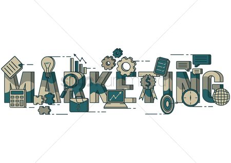 Time : Marketing lettering design