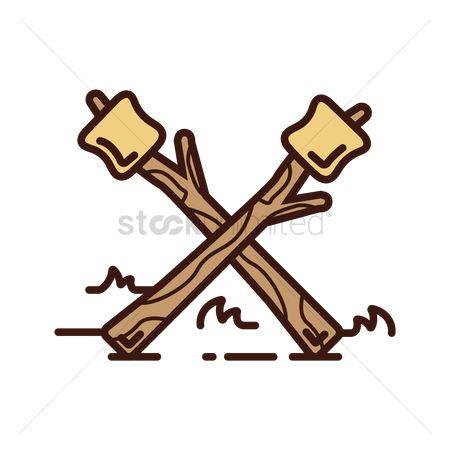 1863189 Marshmallow Roasting Stick On A