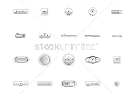 Volume : Media button collection