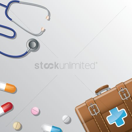 Medicines : Medical background design