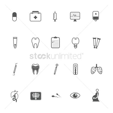 Cardiogram : Medical icons collection