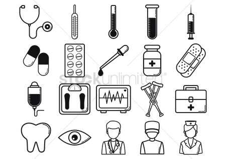 Medicines : Medical icons collection