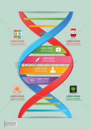 Dna : Medical infographic