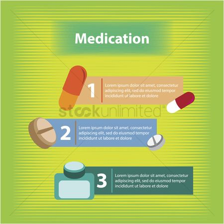Health cares : Medication infographic