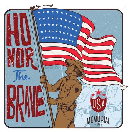 Flag : Memorial day label