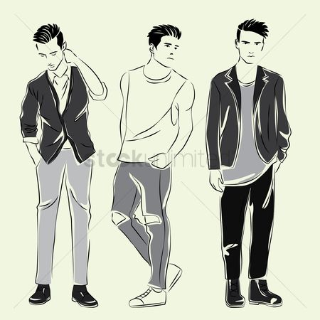 Smart : Men dressed in various fashion
