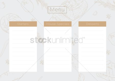 Flour : Menu template