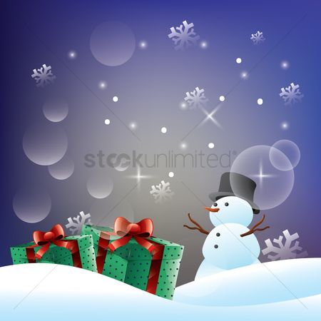 Gifts : Merry christmas background