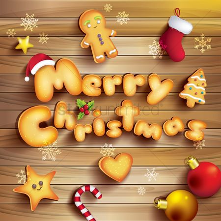 Biscuit : Merry christmas design