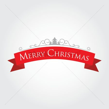 Cloth : Merry christmas label