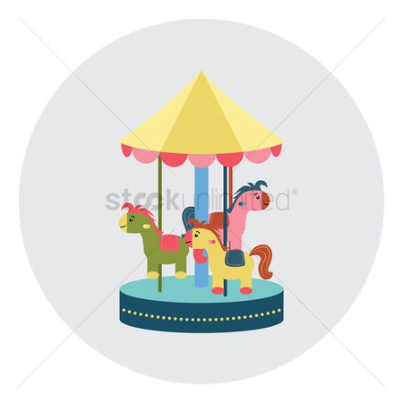 Play kids : Merry go round