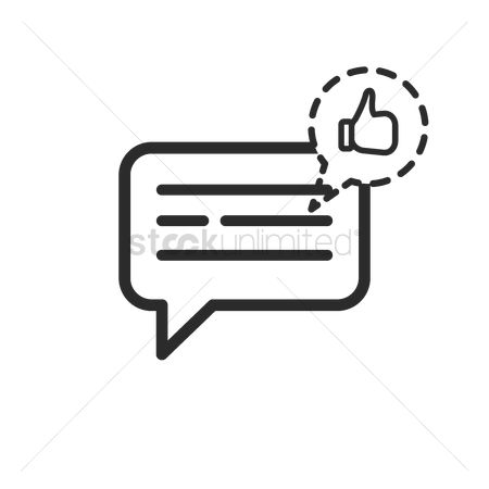 Notification : Messaging icon with like notification