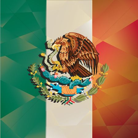 Tricolored : Mexico flag background
