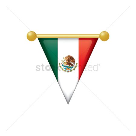 Tricolored : Mexico flag icon