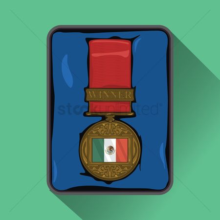 Challenges : Mexico flag on medal
