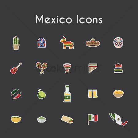 Pullover : Mexico icons