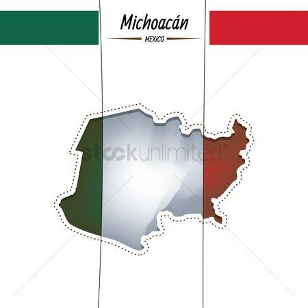 Michoacan State Map.Free Michoacan Map Stock Vectors Stockunlimited