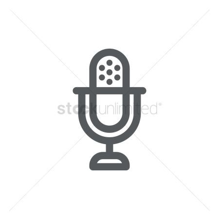 Broadcasting : Microphone icon