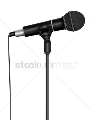 Broadcasting : Microphone on a mic stand