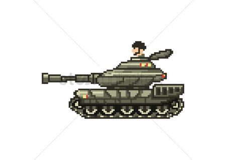 Tanks : Military tank with gunner