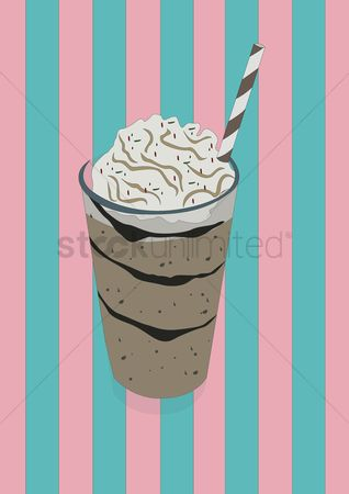 Straw : Milkshake in a glass