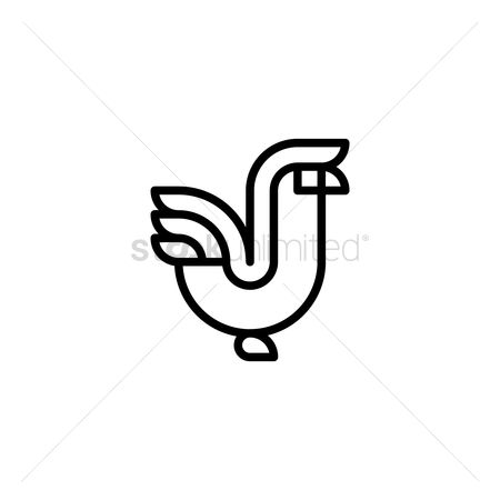Animal : Minimalistic rooster design