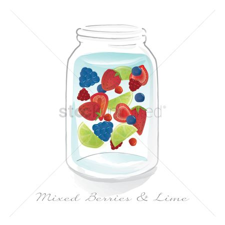 Blueberry : Mixed berries and lime in a jar